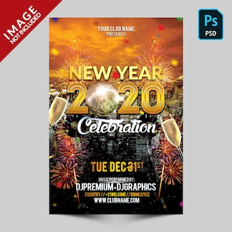 Gold new year celebration