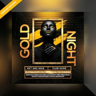 Флаер золотой ночи
