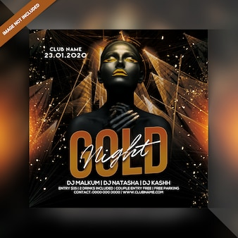 Gold night party poster