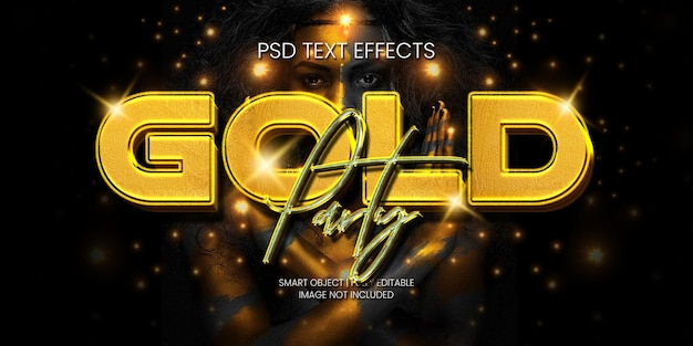 Золотая вечеринка текстовый эффект