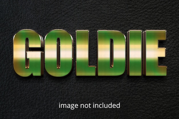 Gold photoshop text effect layer style