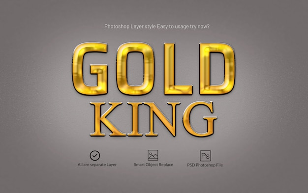 Gold premium photoshop layer style effect