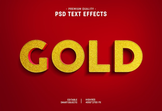 Gold on red text style effect