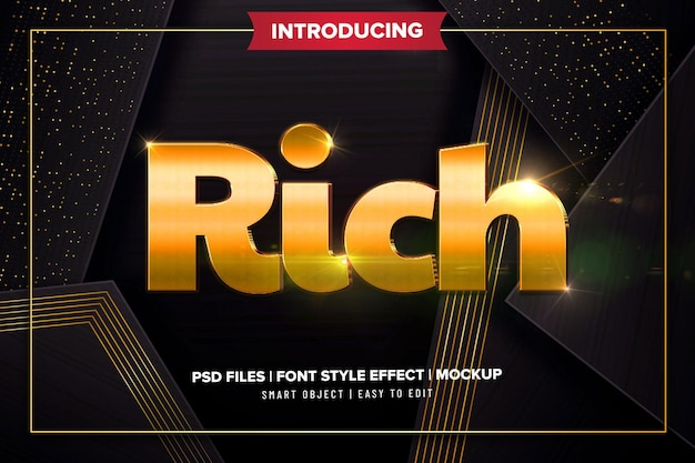 Gold rich premium text effect