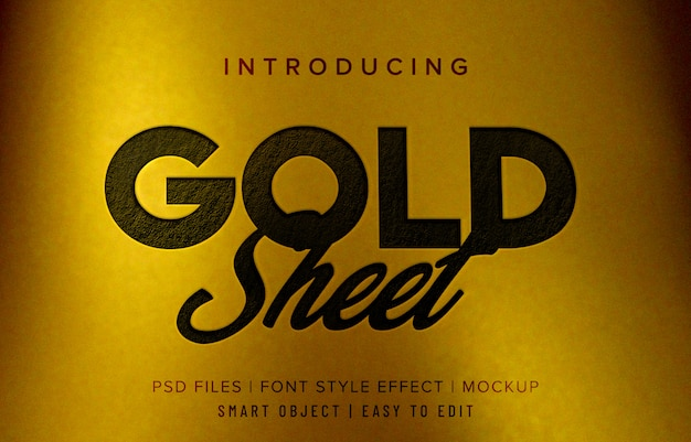 Gold sheet font style