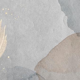 水彩背景イラストにゴールドスプラッタ