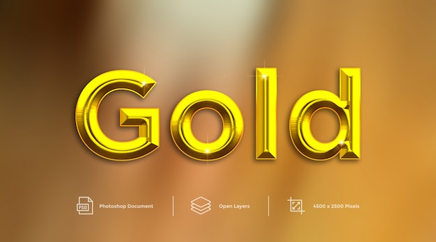 Gold text effect design photoshop layer style effect
