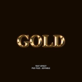 Gold text effect design