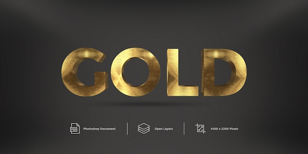 Gold text effect  style effect