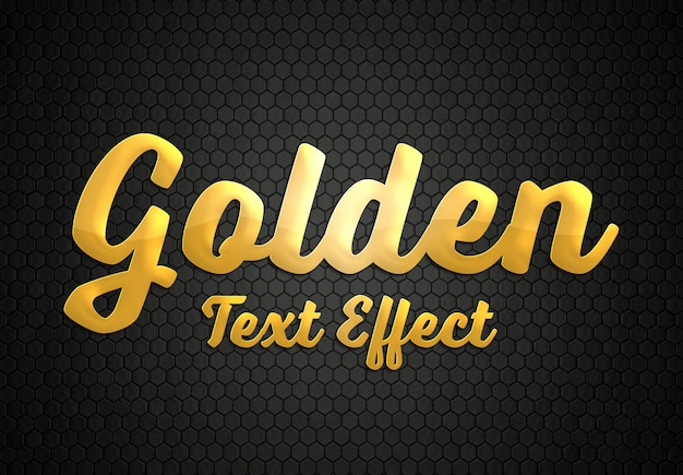 Gold text effect style mockup