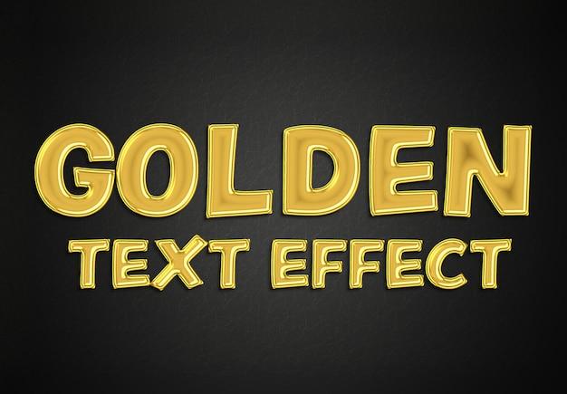 Золотой текстовый эффект в стиле макет