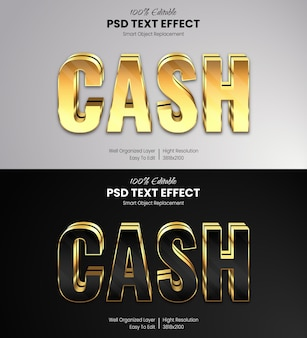 Gold text effect template