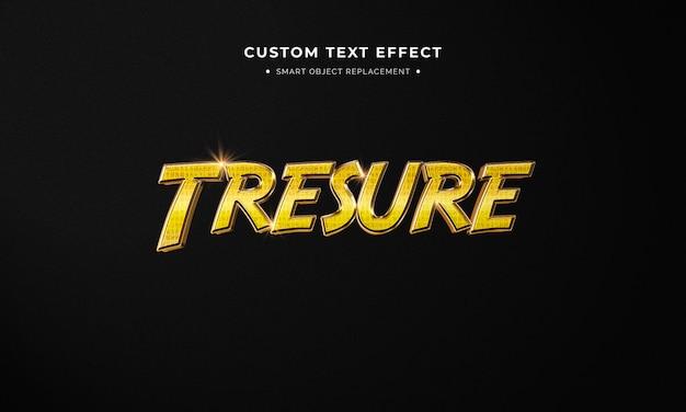 Golden 3d text style