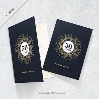 Golden anniversary elegant card