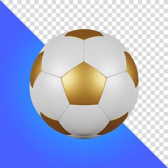 分離されたゴールデンボール3dレンダリング