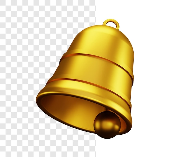 Golden bells 3d illustration concept