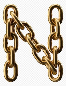 Золотая цепочка алфавит письмо j изолированные