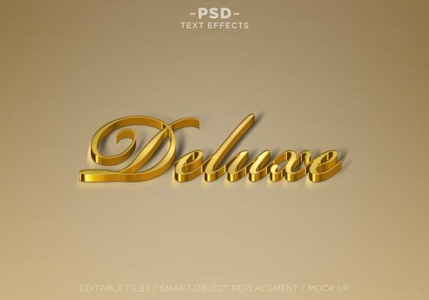 Golden deluxe effects редактируемый текст