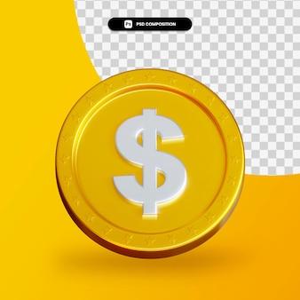 Золотая монета обмен 3d-рендеринга изолированные