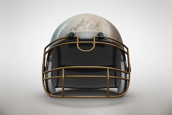 Golden helmet mock up