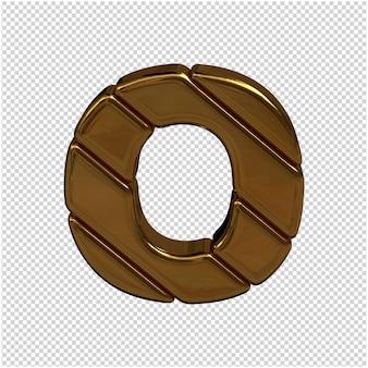 Золотая буква русского алфавита 3d-рендеринга