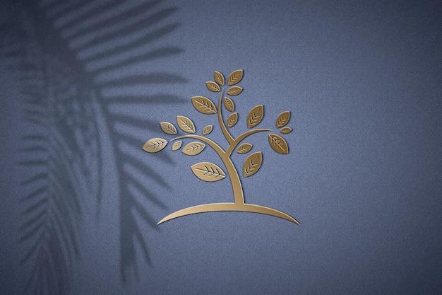 황금 로고 모형 디자인