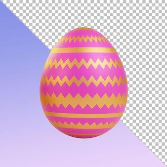 Золотые розовые пасхальные яйца 3d-рендеринг