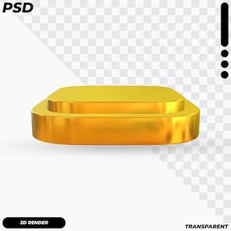 3dレンダリングによる金色の表彰台