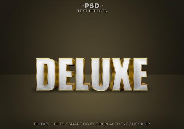 Golden premium effects editable text
