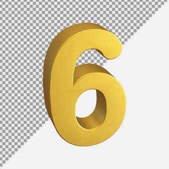 ゴールデンリアリスティック3d番号レンダリング