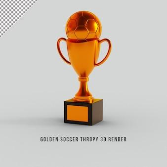 Золотой футбольный мяч thropy 3d render
