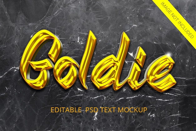 Golden style text effect
