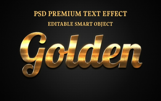 Golden text effect design