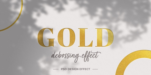 Golden text effect mock up