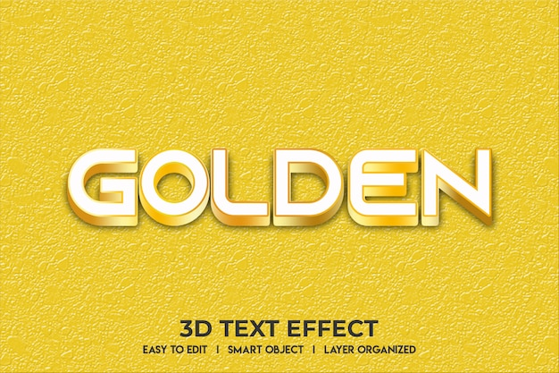 Golden text effect mockup
