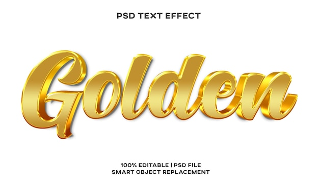 Golden text effect style template