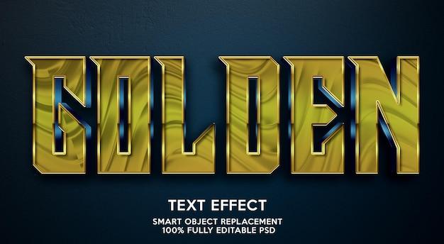 Золотой текстовый эффект шаблон