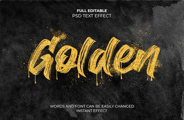 Golden text effect