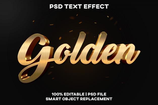 Золотой текстовый эффект