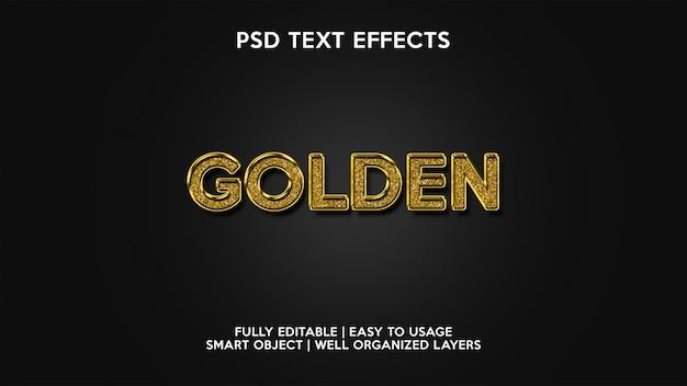 Golden text effects
