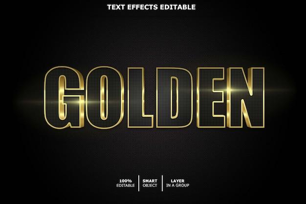 Golden - редактируемый эффект шрифта