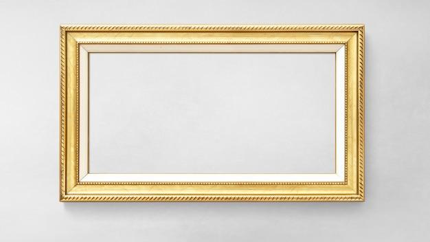 Goldpicture frame mockup