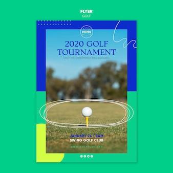 골프 컨셉 플라이어 템플릿
