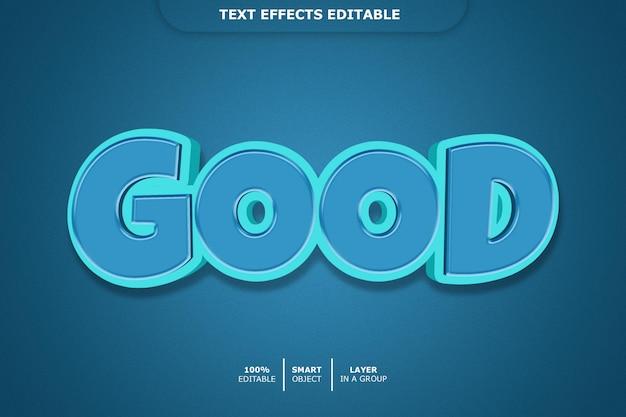 Хорошо - редактируемый эффект шрифта