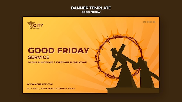 Good friday banner template