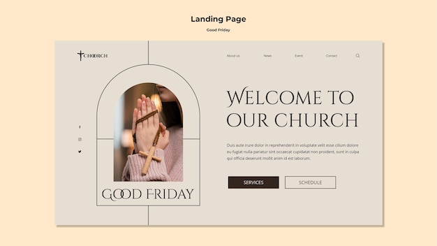 Good friday landing page template
