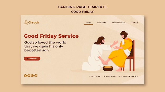 Good friday landing page