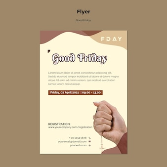 Good friday print template with photo