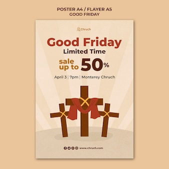 Good friday print template