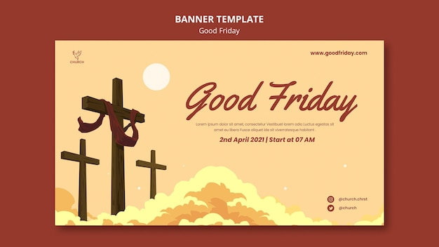 Good friday social banner template